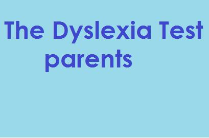 The Dyslexia Test - parents
